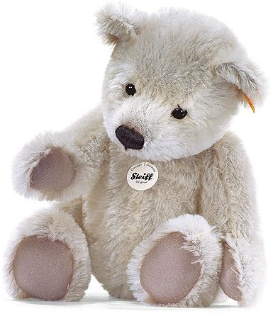 White Teddy Bear on Steiff Classic Teddy Bear White  Ean 039676  10cm Steiff Bears