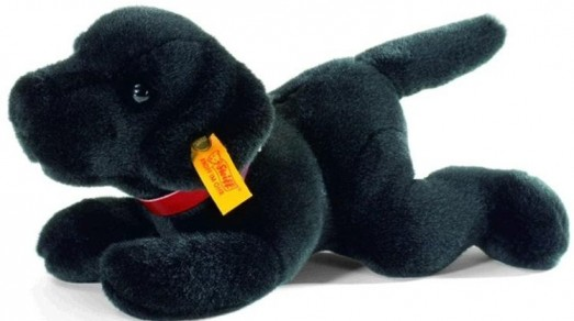 Retired Steiff Bears - BLACK LABRADOR PUPPY 25CM