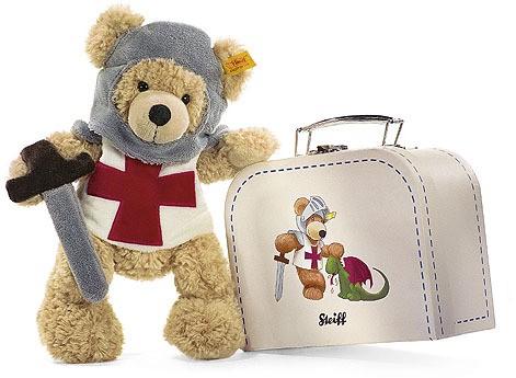 Steiff Fynn Knight Bear In Suitcase Ean 111860 Steiff Bears