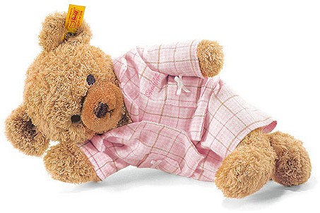 Retired Steiff Bears - SLEEP WELL BEAR PINK 28CM