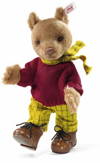 Retired Steiff Bears - ALPACA RUPERT BEAR BROWN 28CM