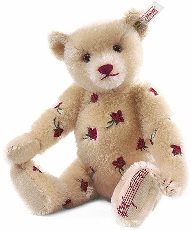 Retired Steiff Bears - MOHAIR ENGLISH MUSICAL BEAR BLOND 30CM