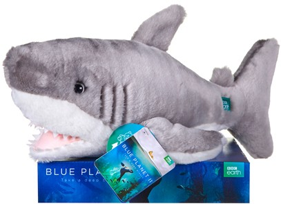 Retired Bears and Animals - BLUE PLANET SHARK 10""