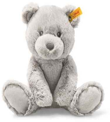 Retired Steiff Bears - BEARZY TEDDY BEAR GREY 28CM
