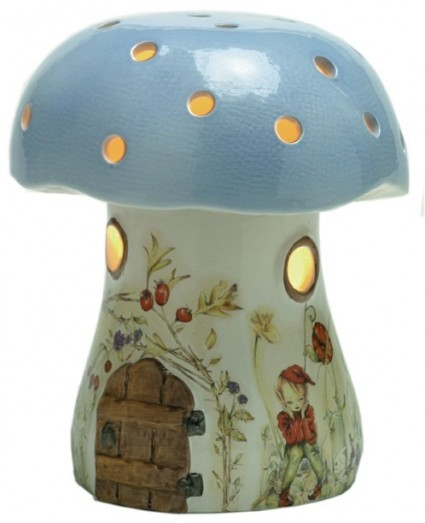 White Rabbit Night Lights - BRAMBLE TOADSTOOL NIGHT LIGHT BLUE