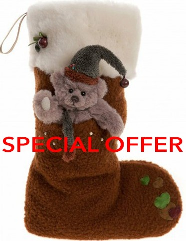 Charlie Bears In Stock Now - STOCKING REINDEER BROWN **SPECIAL OFFER**