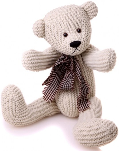 Charlie Bears Knotty Knitted Teddy Bear Free Delivery