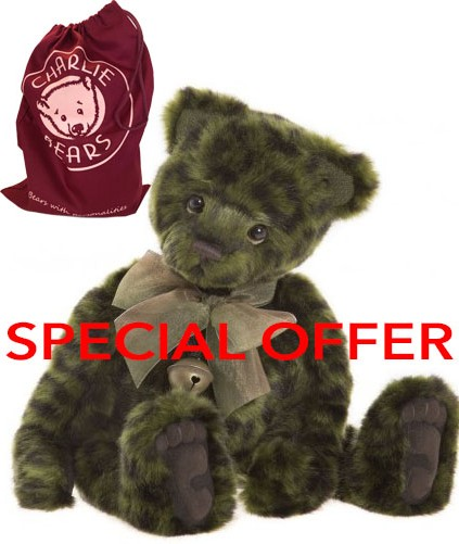 Retired Charlie Bears - LIME PICKLE 15ֲ½""