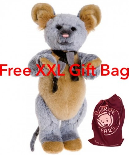 Retired Charlie Bears - SCAREDY CAT MOUSE **FREE GIFT BAG**