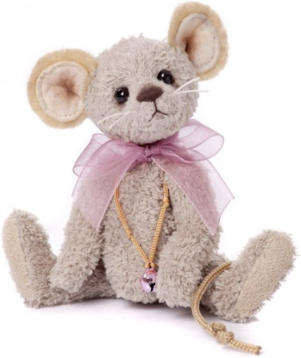 Retired Charlie Bears - MO MOUSE KEYRING 13CM