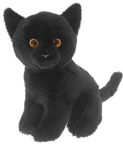 Retired Faithful Friends - BLACK SOFT TOY CAT 17CM