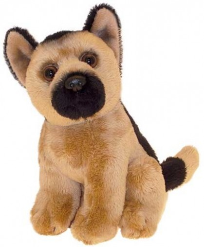 Dog Breeds - GERMAN SHEPHERD SOFT TOY DOG 17CM