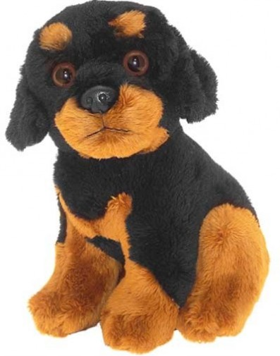 Dog Breeds - ROTTWEILER SOFT TOY DOG 17CM