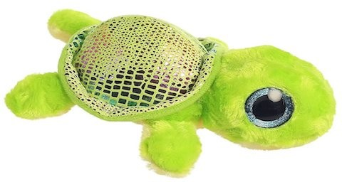 Retired Aurora - YOOHOO FLIPPEE GREEN TURTLE 6.5""