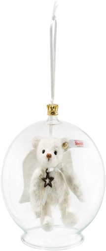 Retired Steiff Bears - GABRIEL TEDDY BEAR IN BAUBLE ORNAMENT 10CM