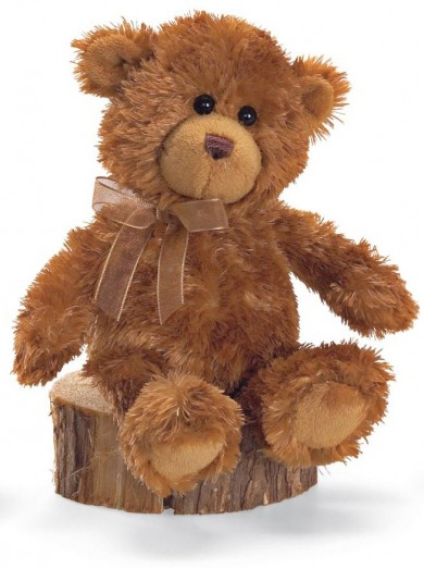 Retired Bears and Animals - MINI TEDDY BEAR BROWN & BEIGE 18CM