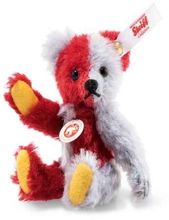 Steiff Limited Editions & Replicas - HARLEKIN MINI TEDDY BEAR 10CM