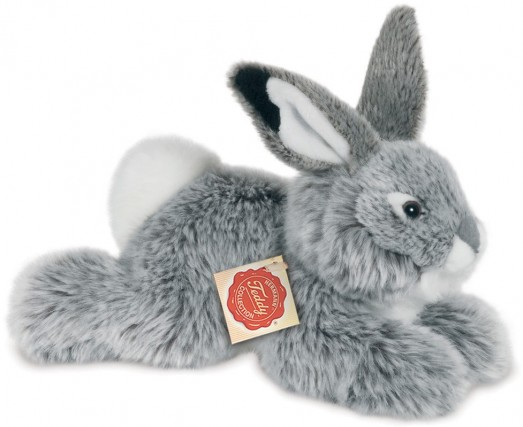 Retired Bears and Animals - RABBIT LYING GREY 28CM
