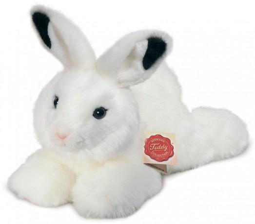 rabbit cuddly toy plush white bunny rabbit from hermann teddy