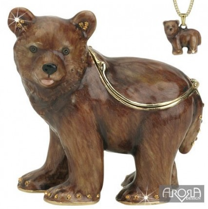 Retired Bears and Animals - BABY BEAR TRINKET BOX & PENDANT