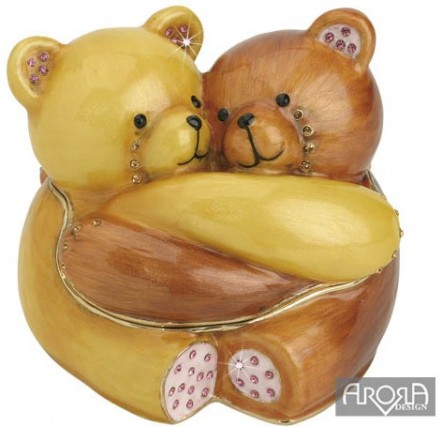 Retired Bears and Animals - FRIENDS FOREVER TRINKET BOX & PENDANT