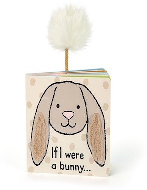 Jellycat Books - BOOK - IF I WERE A BUNNY - BEIGE