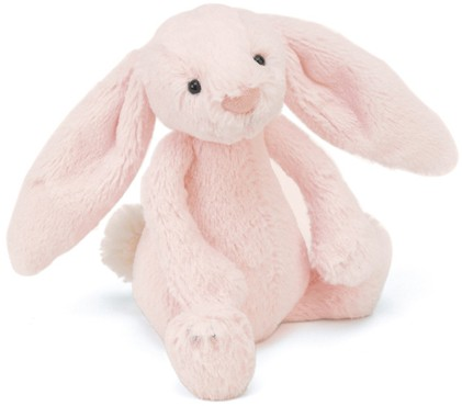 Bashful and Blossom Bunnies - BASHFUL BUNNY PINK RATTLE 18CM