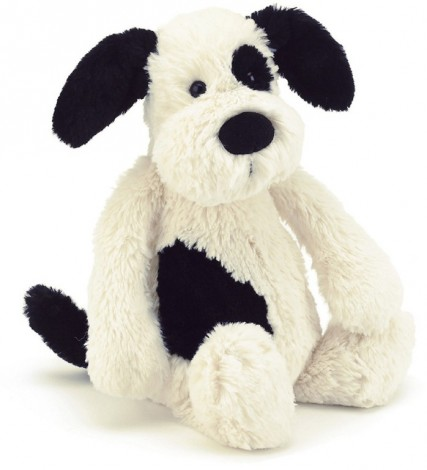 Jellycat Pets - BASHFUL BLACK & CREAM PUPPY 31CM