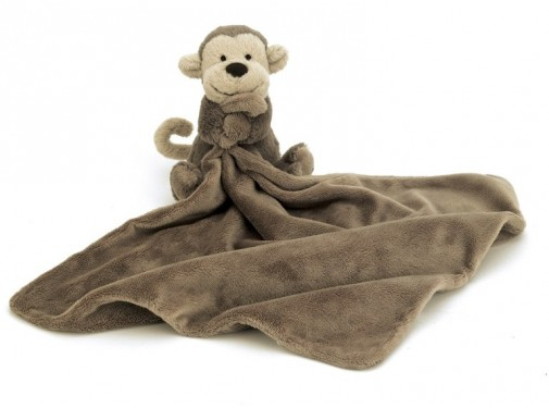 Jellycat Baby - BASHFUL MONKEY SOOTHER 33CM