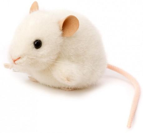 kosen animals realistic plush mouse toy white