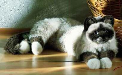 Kosen Birman Cat 4390 Kosen Realistic Plush Animals