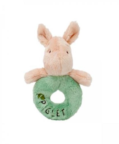 Disney Classic Pooh The Hundred Acre Wood Collection - DISNEY CLASSIC PIGLET RING RATTLE 12CM