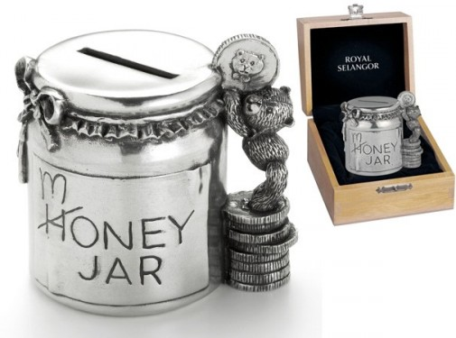 Retired Bears and Animals - HONEY JAR MONEY BOX 8CM