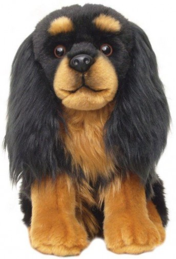 Dog Breeds - CAVALIER BLACK & TAN SOFT TOY DOG 30.5CM