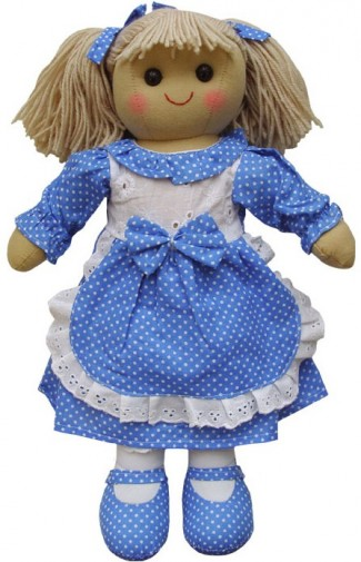 Rag Doll With Blue Polka Dot Dress Girl S Traditional