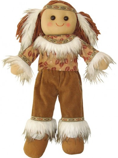 Retired Bears and Animals - RED INDIAN RAG DOLL 40CM