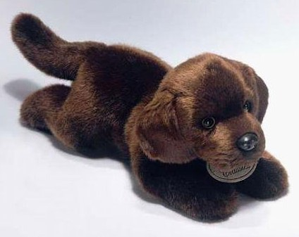 Russ Berrie Chocolate Labrador Plush Dog Yomiko Classics
