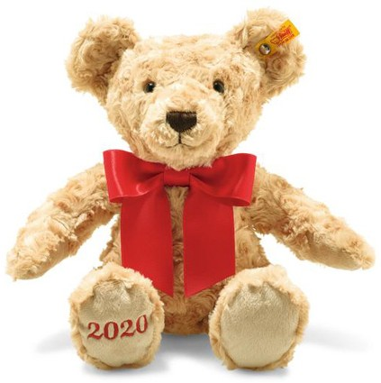 Steiff Cosy Plush Teddy Bears (Age 0+) - COSY YEAR BEAR 2020 34CM