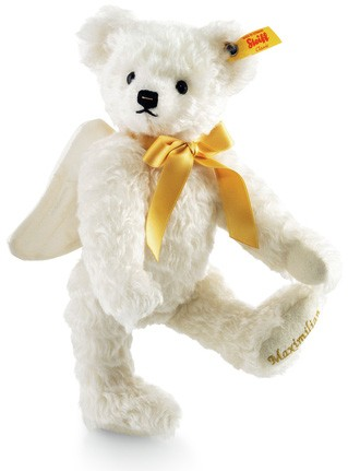 Retired Steiff Bears - GUARDIAN ANGEL TEDDY BEAR GOLDEN 27CM