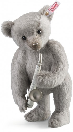 "Retired Steiff Bears - LLADRֳ"" SAXOPHONE PLAYER BEAR 26CM"
