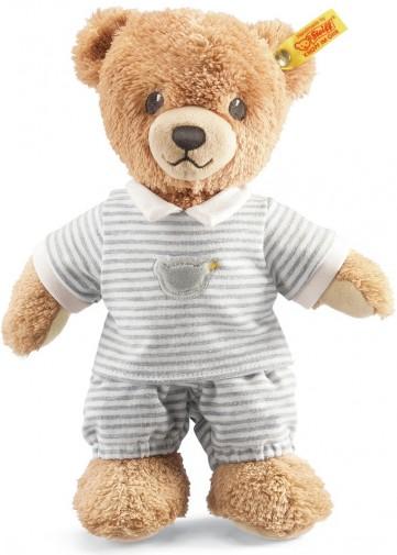Steiff Babysafe Teddy Bear In Grey Pyjamas Steiff 239908