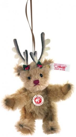 retired steiff bears teddy bear christmas deer ornament 10cm