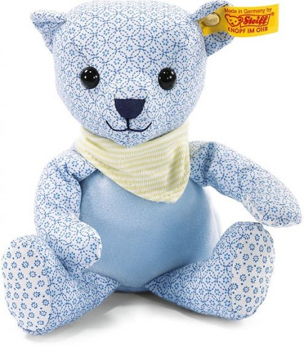 Retired Steiff Bears - LITTLE CIRCUS TEDDY BEAR BLUE 20CM