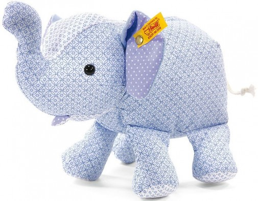 Retired Steiff Bears - LITTLE CIRCUS ELEPHANT BLUE 25CM