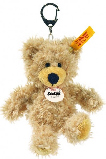 Steiff Keyrings & Miniatures - KEYRING CHARLY TEDDY BEAR BEIGE 12CM