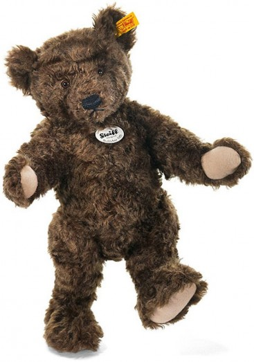 Retired Steiff Bears - CLASSIC 1920 TEDDY BEAR DARK BROWN 35CM