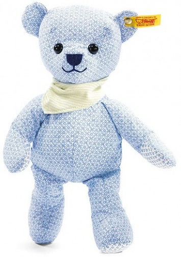 Retired Steiff Bears - LITTLE CIRCUS TEDDY BEAR BLUE 28CM