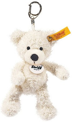 Steiff Keyrings & Miniatures - KEYRING LOTTE TEDDY BEAR WHITE 12CM