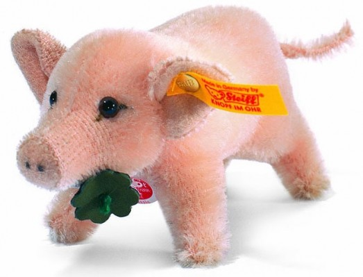 Steiff Pets & Farm Animals - LUCKY PIG 10CM