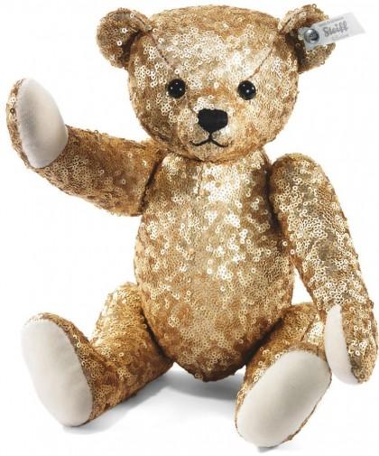 Steiff Selection Gold Sequins Teddy Bear Steiff 025990